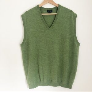 Men's Brooks Brothers Green Vest XL